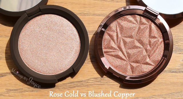 Becca Rose Gold vs Blushed Copper Shimmering Skin Perfector Pressed Highlighter Review