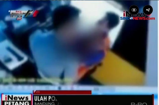 Beredar VIDEO Oknum Polisi Cekik Penjaga Pintu Tol Cileunyi