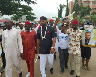 Actor Yul Edochie Raises DPC party Flag As He Begins 2017 Governorship Election Campaign