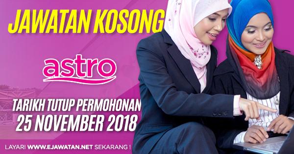 jawatan kosong astro 2018
