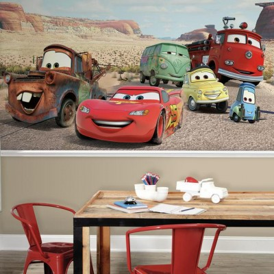 Cars Wall Mural Kids Room Disney Children