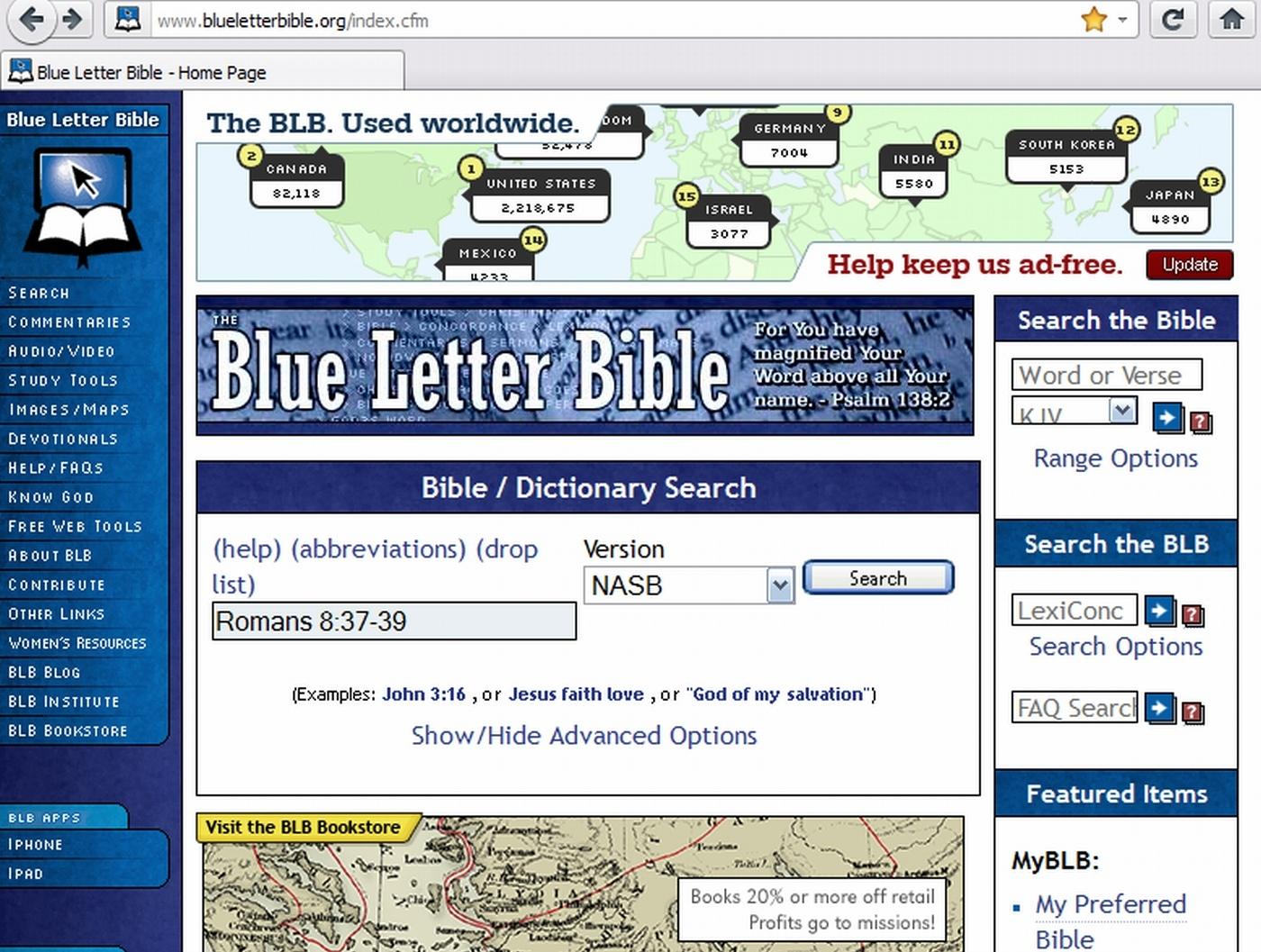 blue letter bible home page blue letter bible 20653 | BlueLetterBible Homepage02