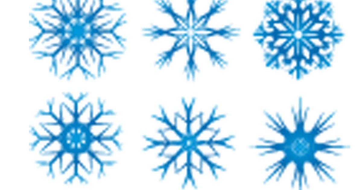 Vector Copo De Nieve: Editor Audiovisuals El Templat: Vectores Copos De Nieve