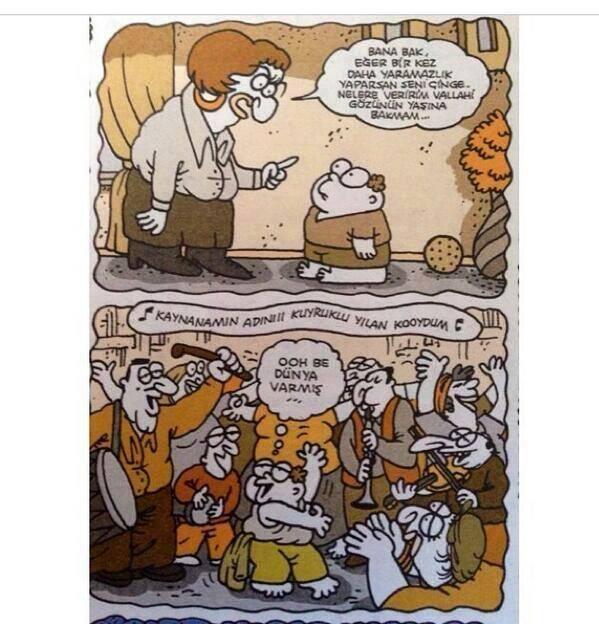 çingene karikatür