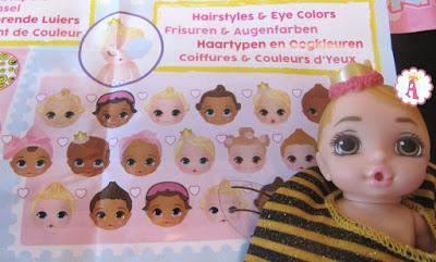 Цвет глаз у кукол пупсов Baby Born Surprise