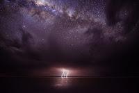 Milky Way and Lightning
