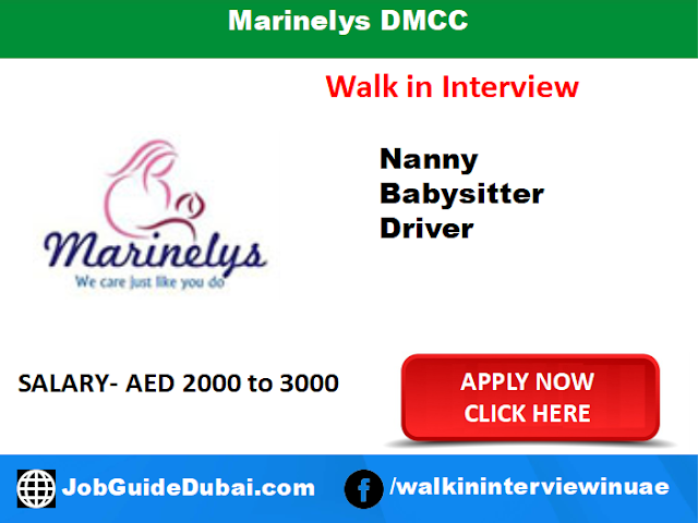 Marinelys DMCC Career for Nanny, Babysitter and Driver