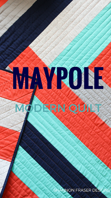 Maypole is a modern and quick quilt pattern designed by Suzy Quilts and I've quilted her using Michael Miller Fabrics Luxe Collection and Aurifil Thread to compliment the bold pattern