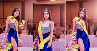 Maashi Hewage in Mrs. World nobel Queen