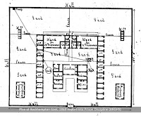 Plan of Rockhampton  Gaol, circa 1868.