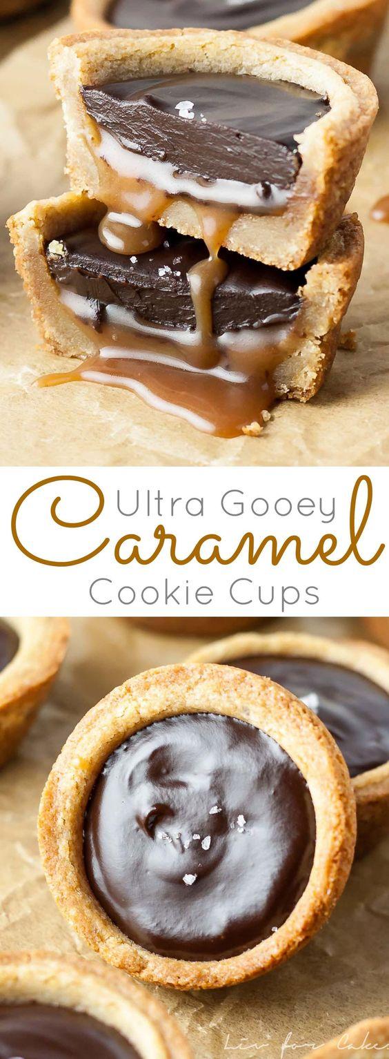 CARAMEL COOKIE CUPS #Caramel #cookie  #Cups #Cookiesrecipe #bestcookies #Dessert #chocodessert