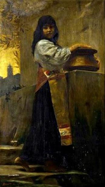 Paul-Albert Besnard - Joven italiana junto a la fuente - 1873
