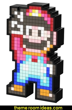 Pixel Pals Nintendo Super Mario World Mario Collectible Lighted Figure  Gamer bedroom - Video game room decor - gamer bedroom furniture - gamer wall decal stickers - Super Mario Brothers Wall Stickers - gamer bedding - Super Mario Brothers bedding -