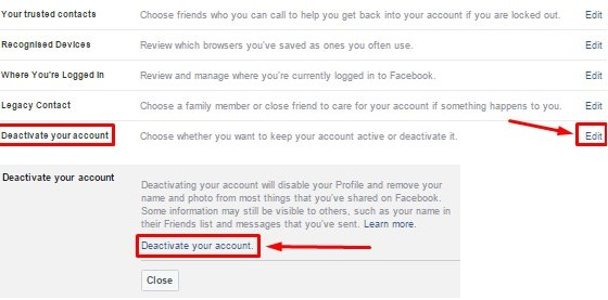 How Do I Disable My Facebook Account