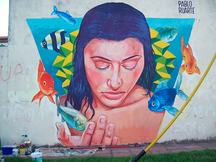 Arte urbano, Peces de Pablo Ruarte