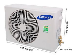 kich thuoc cuc nong may lanh 1.5 hp