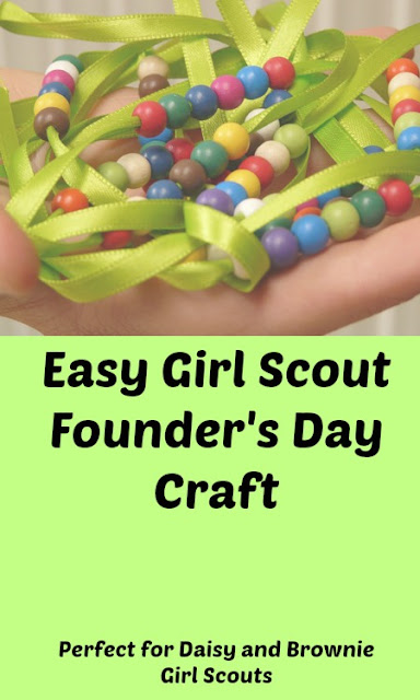 Easy Girl Scout Founder's Day Craft for Daisy and Brownie Scouts