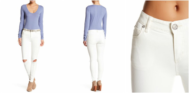 Free People Destroyed Skinny Jeans $35 (reg $78)