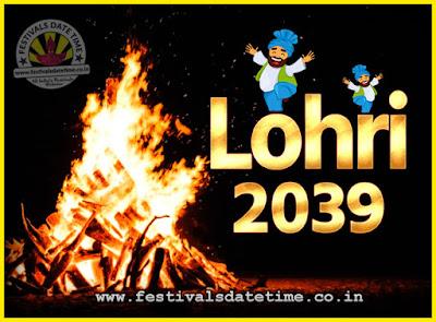 2039 Lohri Festival Date & Time, 2039 Lohri Calendar