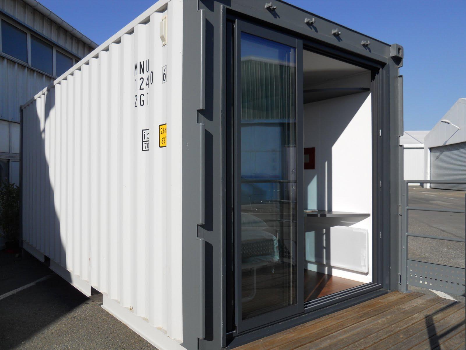 maison container module pour extension de maison container 20ft. Black Bedroom Furniture Sets. Home Design Ideas