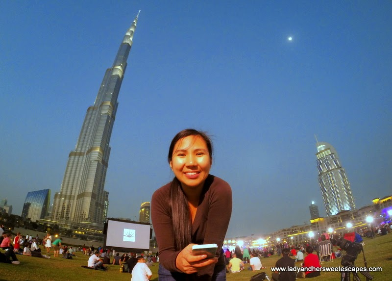 Lady in Burj Park Dubai