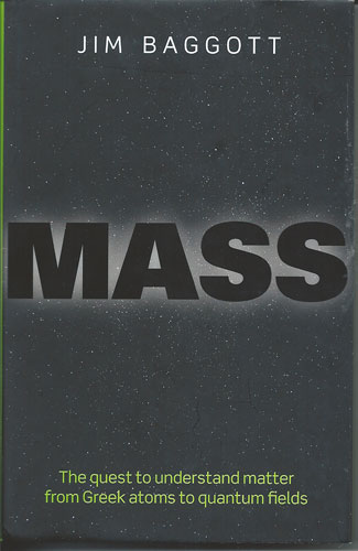 "Resident Astronomer at the AAS 231 picks up copy of great book, ""Mass"", by Jim Baggott"