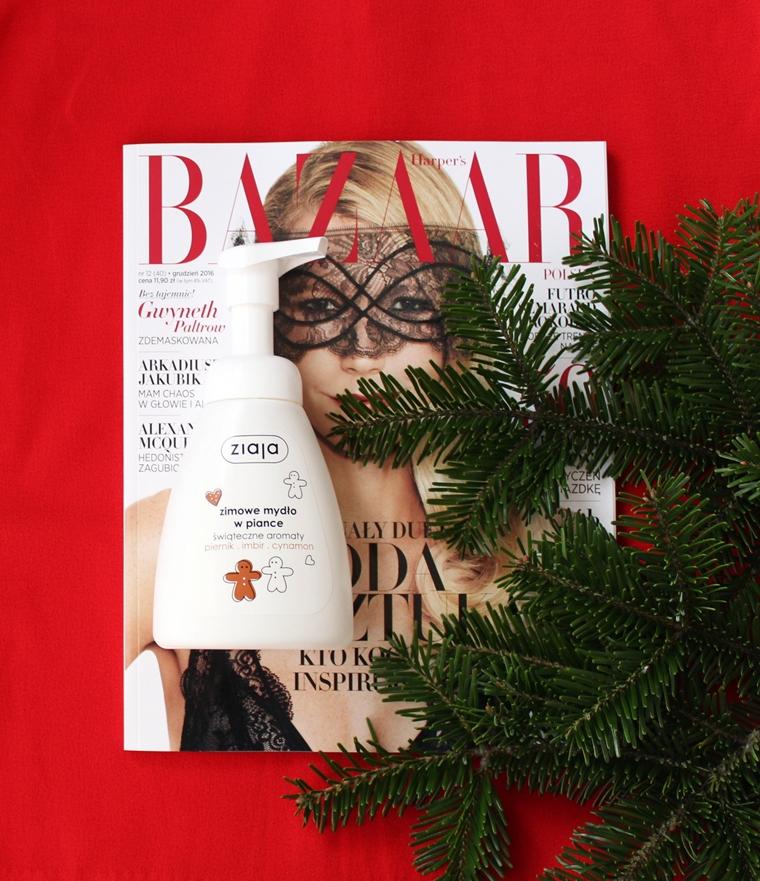 Kosmetyki o świątecznym zapachu, które musisz mieć - zimowe mydło do rąk w piance Ziaja Świąteczne Aromaty