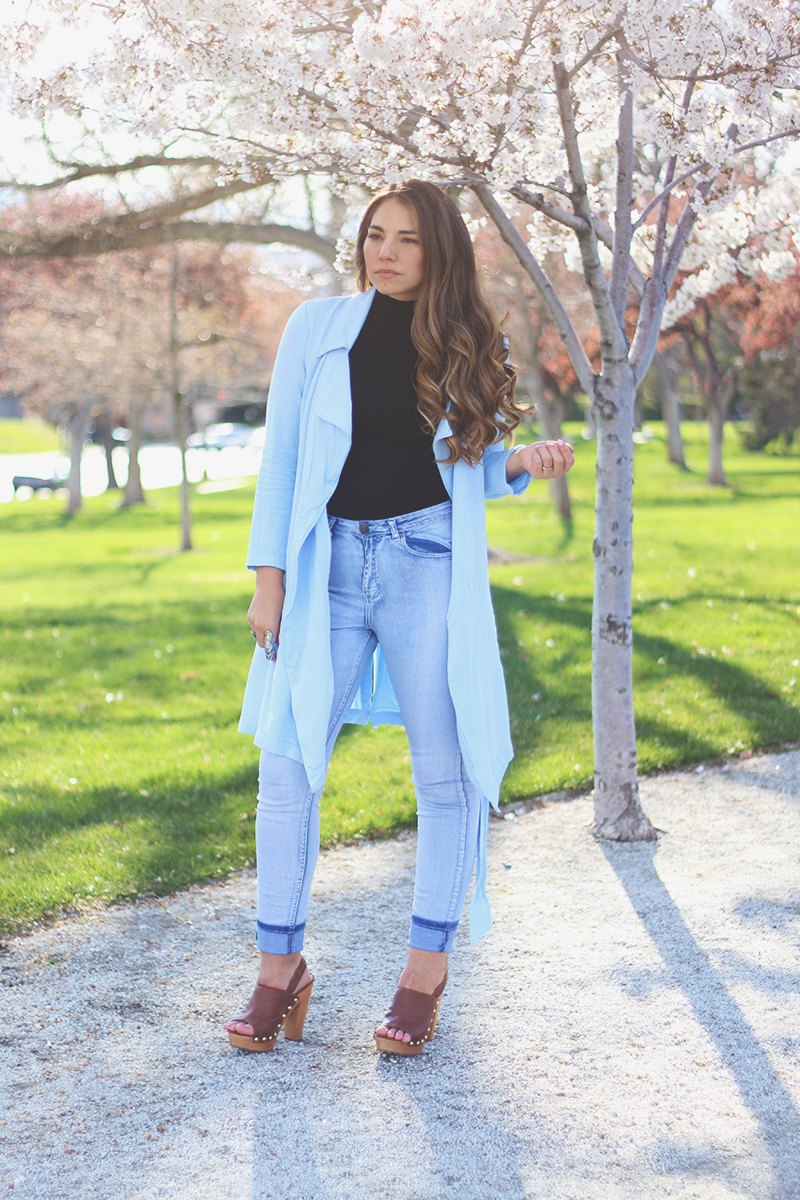 forever 21 jacket, utah fashion blogger, wooden clogs