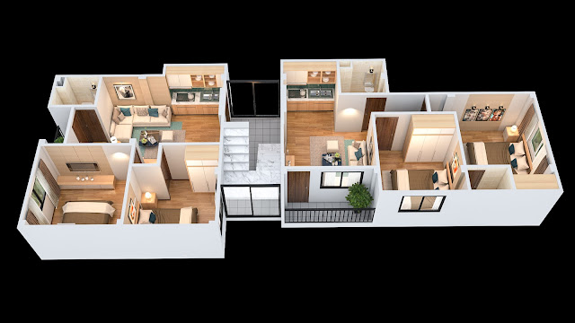 Mặt bằng thiết kế tầng 2-6 chung cư mini Minh Đại Lộc 2 (ngõ 173 Đông Ngạc)