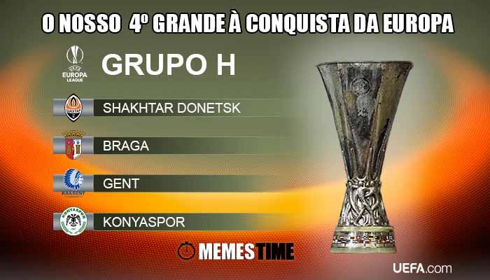 Memes Time Grupo h da Fase de Grupos da Liga Europa SC Braga – O nosso 4º Grande à Conquista da Europa