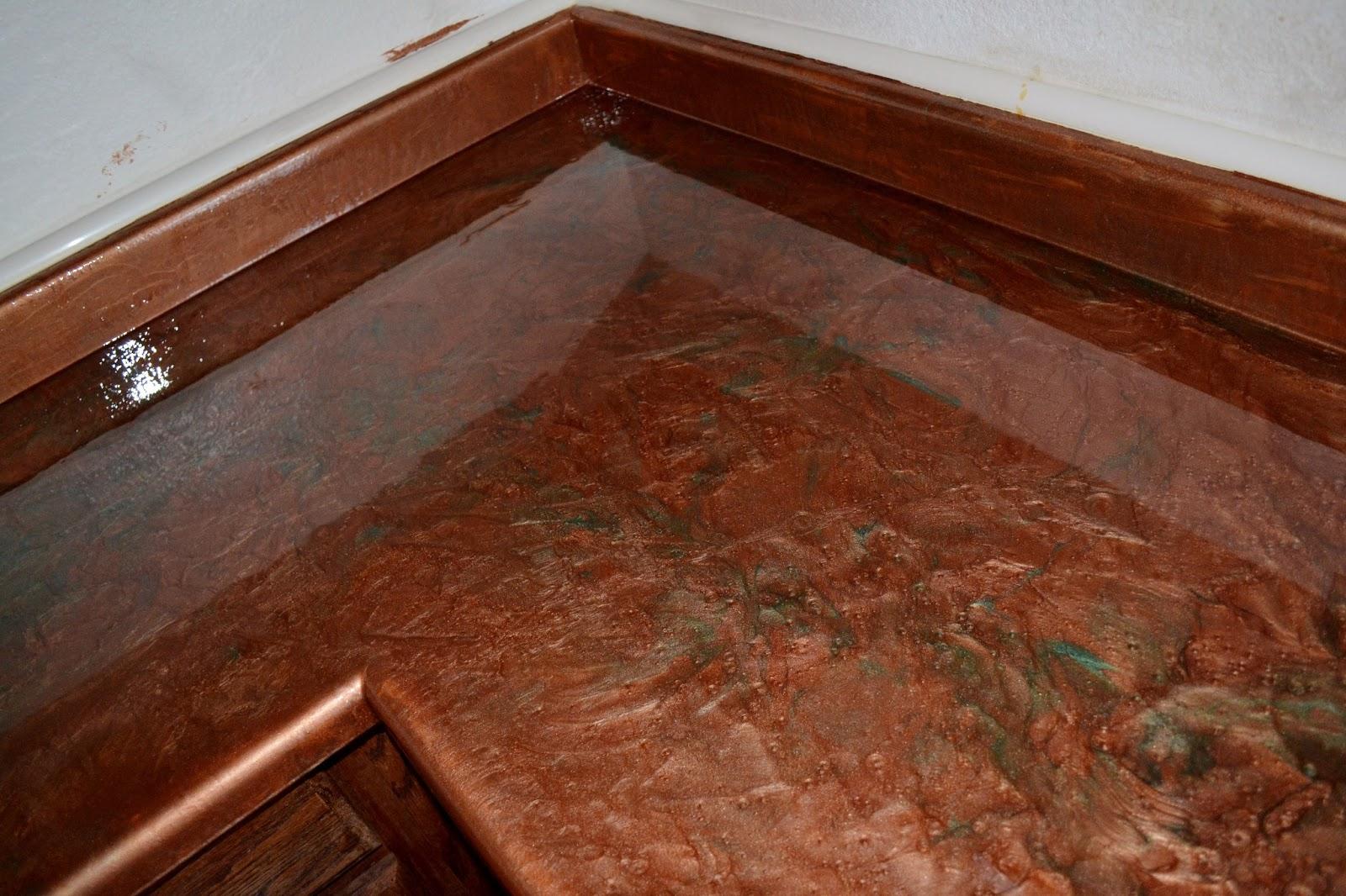 Covering Countertops To Look Like Granite : Concrete countertops over laminate