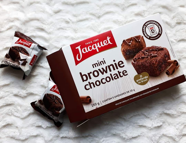Recebidos Jacquet Mini Brownie com Pedaços de Chocolate