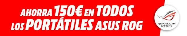 Ahorra 150 € en todos los portátiles Asus ROG de Media Markt
