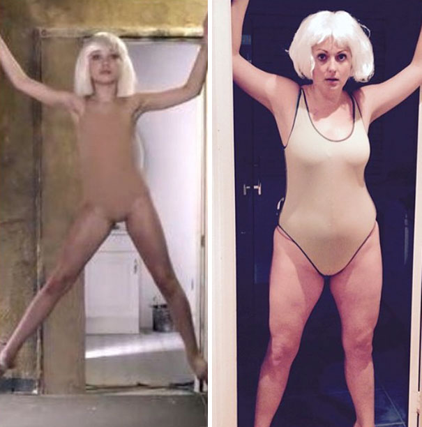 Woman Hilariously Recreates Celebrity Instagram Photos (Part 2) - Holding It All Together