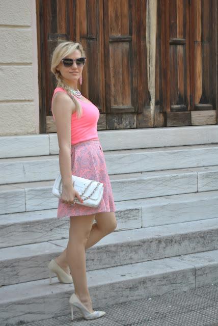 outfit rosa come abbinare il rosa abbinamenti rosa mariafelicia magno fashion blogger colorblock by felym fashion blog italiani blogger italiane di moda influencer italiane outfit estivi outfit giugno 2016 ragazze bionde