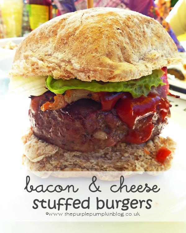 Bacon & Cheese Stuffed Burgers