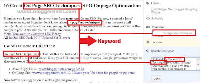 Drop Target keyword here in post.
