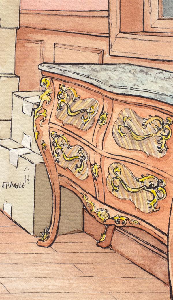 Chez Roy Mustang - détails d'un fanart de FMA avec décor
