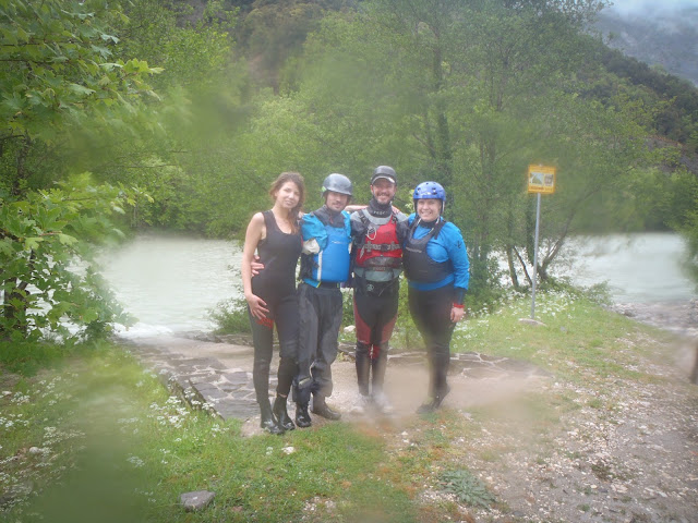 End of our rafting day on Arachthos, Greece