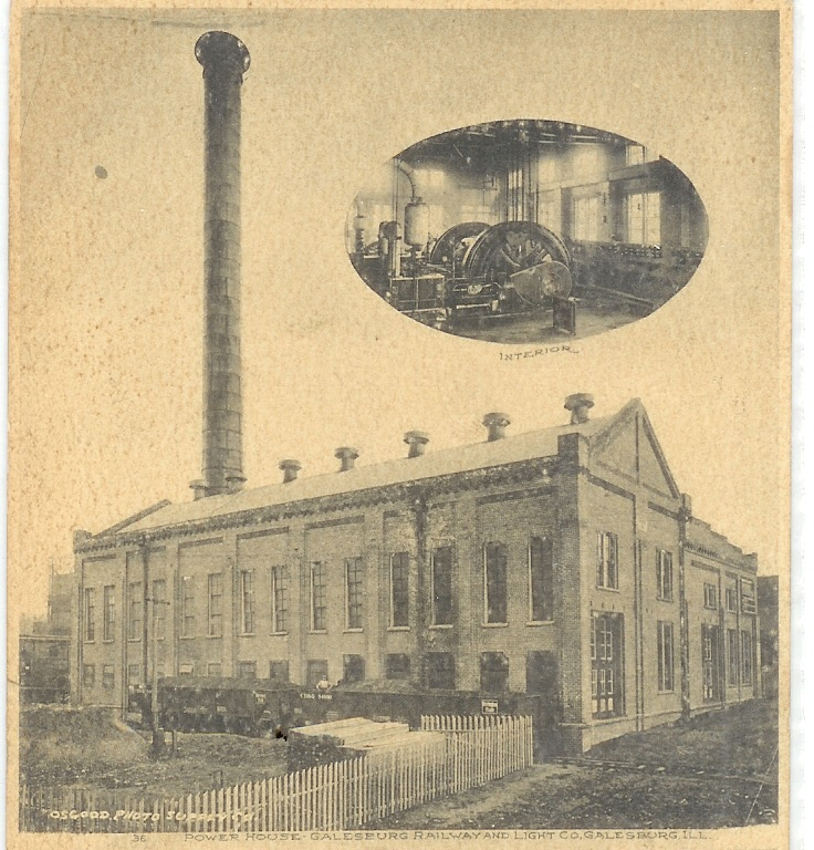 A View Of The GRLu0026P Powerhouse From A 1908 Postcard.