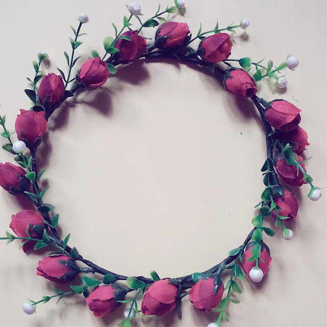 D.I.Y Flower Crown   Cara Mudah Buat Flower Crown Dengan 4 Bahan Sahaja