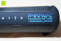 Aufdruck: R4mpage RP-1100 Bluetooth Lautsprecher 10Watt mit LED Farbwechselmodus, und Mikrofon für Freisprechfunktion