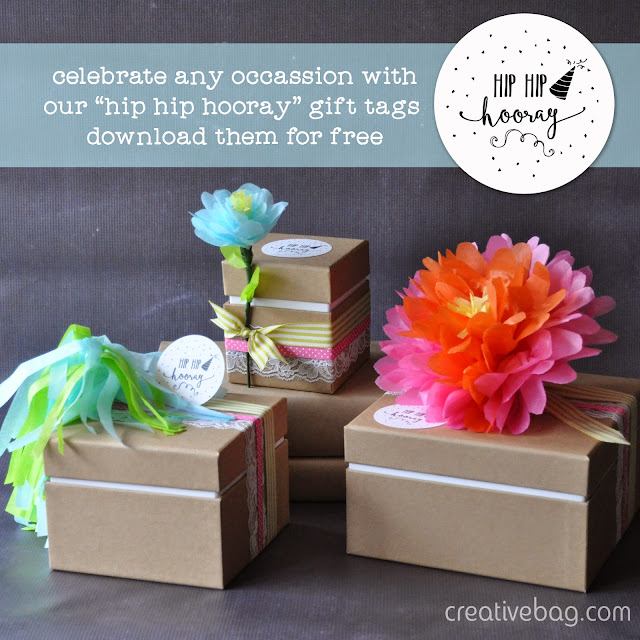 good things come in pretty packaging and a free download for gift tags | Creative Bag
