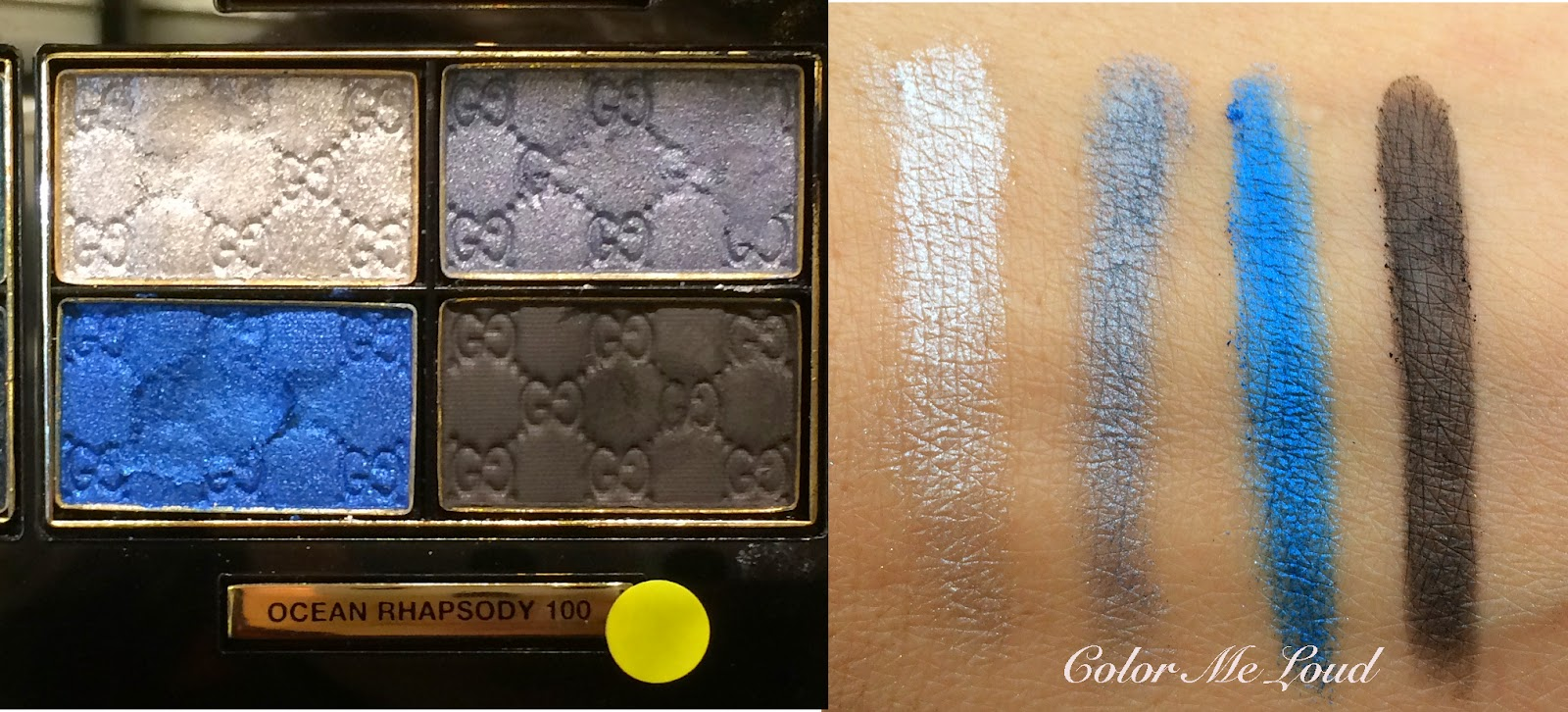 Swatch: Gucci Magnetic Color Eye Shadow Quad in Ocean Rhapsody