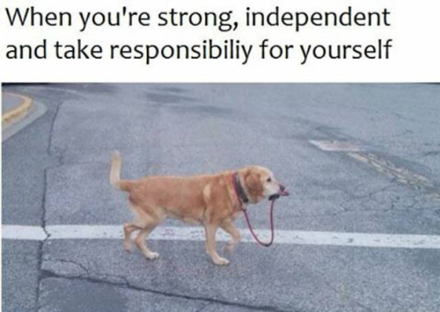 When you're strong, independent and take responsibility for yourself