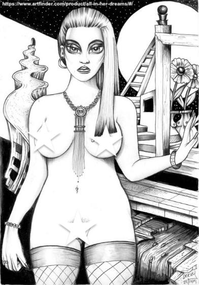 Erotic Surrealism Female Nude Art Illustration