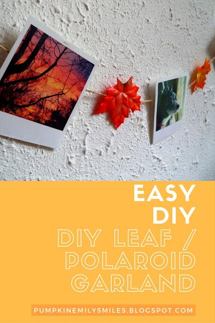 Easy DIY Leaf Garland / DIY Polaroid Garland