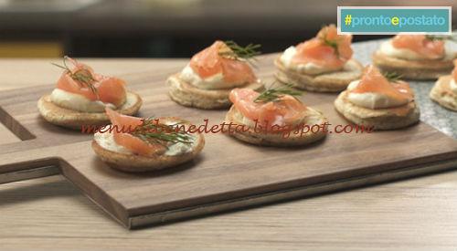 Pronto e postato - Blinis al salmone ricetta Benedetta Parodi
