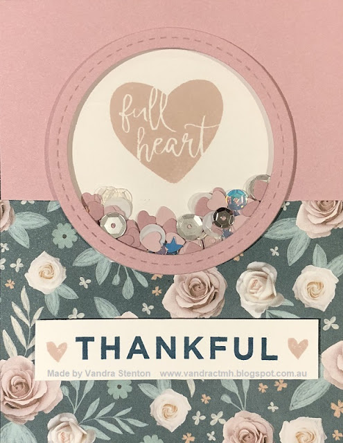 #CTMHVandra, #CTMHBoutique, Boutique, flowers, Thankful, thank you, sugarplum, shaker card, 3D Foam, hearts, thanks, cardmaking, stamping, Sequins, thin cuts, color dare, Colour Dare Challenge,