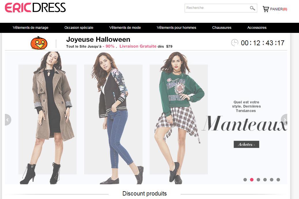 9919894d8437b يعتبر موقع اريك دريس Ericdress من أفضل مواقع التسوق الصينية على الأنترنت  لبيع كل أنواع الألبسة والفساتين والأحذية الخاصة بالنساء والرجال وكل جديد  الموضا ...